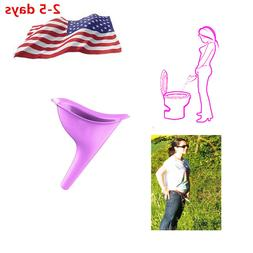 1*Portable Toilet Female Woman Ladies She Urinal Urine Wee F
