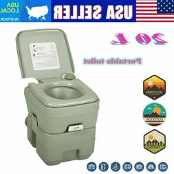 20L Portable Camping Toilet Flush Porta Travel Outdoor Vehic