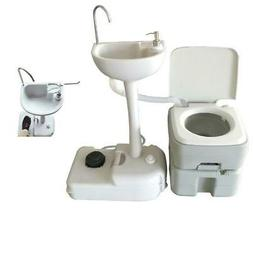 Outdoor Camping Hiking 20L Portable Toilet Flush Potty Commo