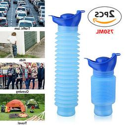 2Pcs Outdoor Portable Urinal Women Men Children 750ml Mini T