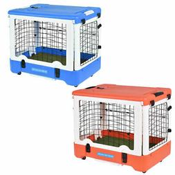 """36"""" Dog Pet Kennel Cage 4 Door Folding Portable Travel Grass"""