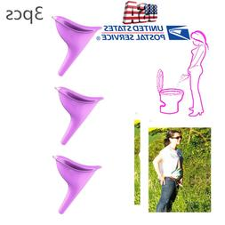 3Pcs Women Portable Camping Toilet Aid Urine Urinal Funnel U
