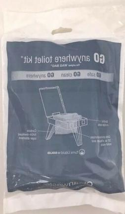 100 Cleanwaste Wag Bag, Go Anywhere Portable Toilet Kit Repl