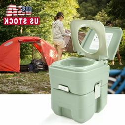 5 Gallon 20L Portable Camping Toilet Flush Travel Indoor/Out