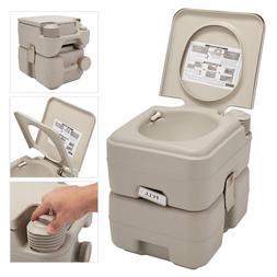 5 Gallon 20L Portable Toilet Flush Travel Camping  Commode P
