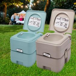 Camping Portable Toilet Flush Travel Commode Potty 2 Color 5