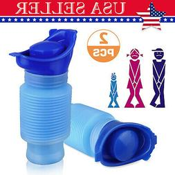 750ML Car Emergency Urinal Portable Camping Shrinkable Mobil