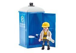 Playmobil Add On #9844 Portable Toilet Porta Potty Toy New S