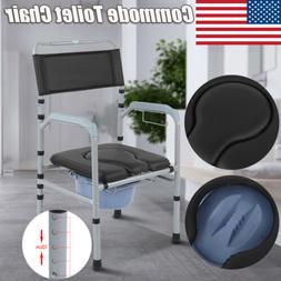Adjustable Commode Portable Toilet Seat Riser Bathroom Folda