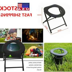 Camping Toilet Chair Portable Folding Seat Toilets Caravan O