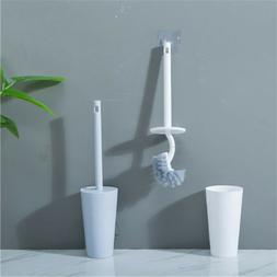 Home Toilet Brush Holder Stand Guard Set Bathroom Cleaning T
