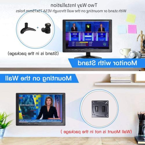10.1 Inch Monitor HDMI Security Monitor 1366x768 TFT LCD Color with