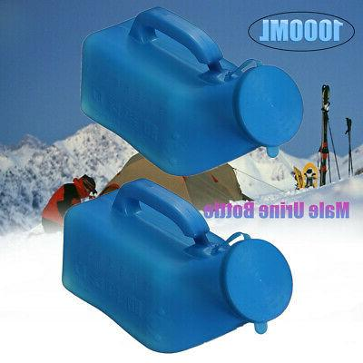 1000ml portable chamber pot bottle toilet camping