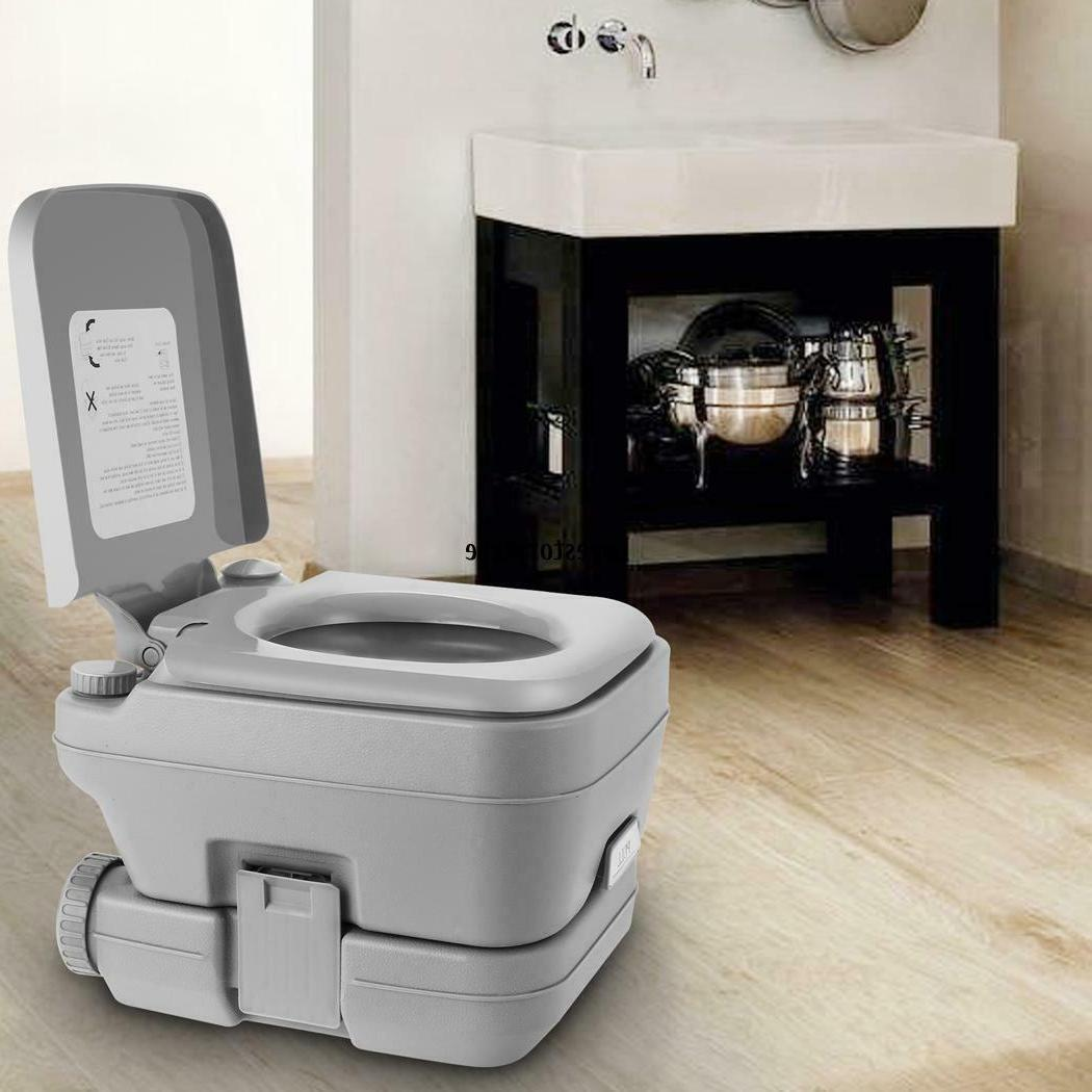 2.8 10L Portable Toilet Travel Camping Outdoor/Indoor Toilet TXST