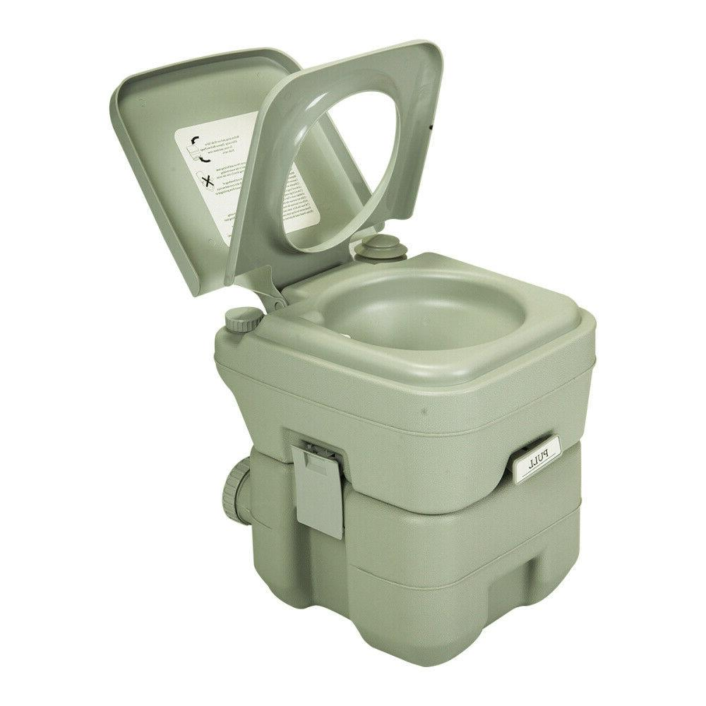 20L Portable Toilet Camping Hiking Flush Potty Commode