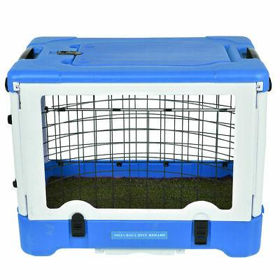"""36"""" Dog Pet Kennel Cage Portable Grass w/ Tray"""
