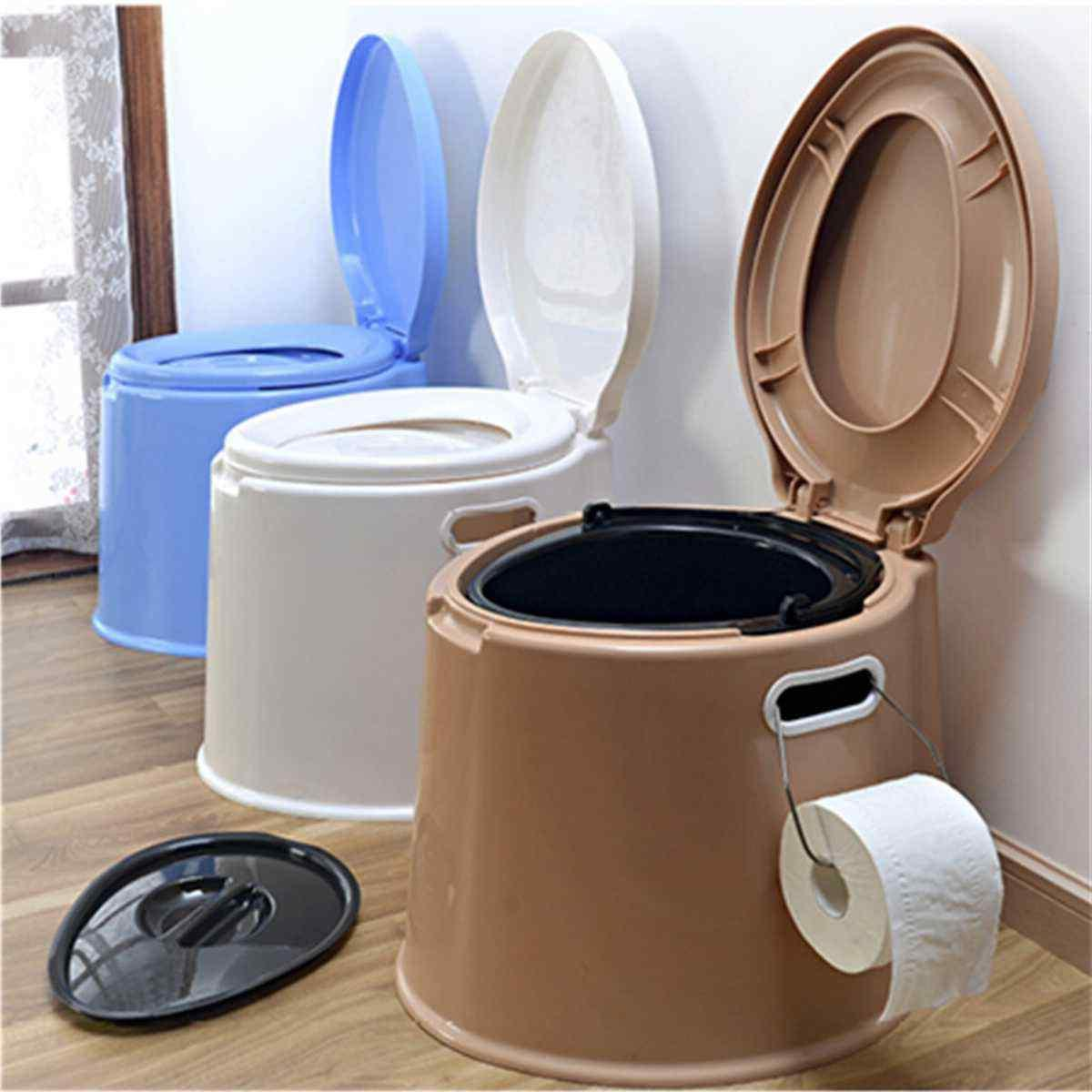 4 color portable toilet seat flush travel