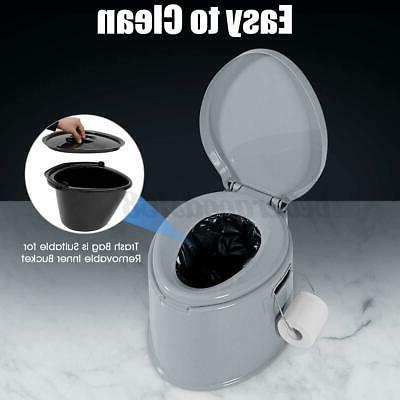 5 Color Toilet Seat Camping Outdoor Potty Commode