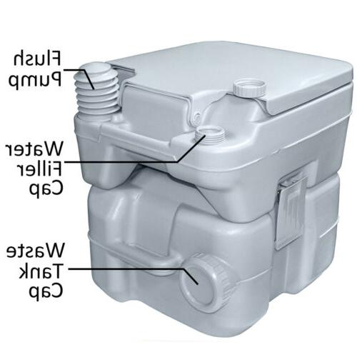 5 Gallon Toilet Flush Outdoor/Indoor Commode