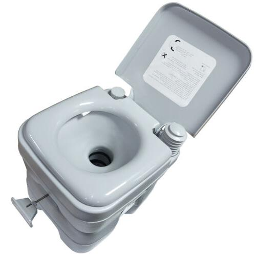 5 Gallon 20L Portable Toilet Travel Outdoor/Indoor Commode