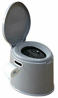 Basicwise Portable Travel Toilet for Camping and Hiking Toil
