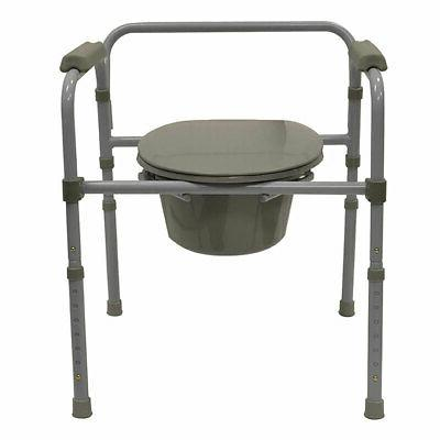 living adjustable deluxe commode portable toilet