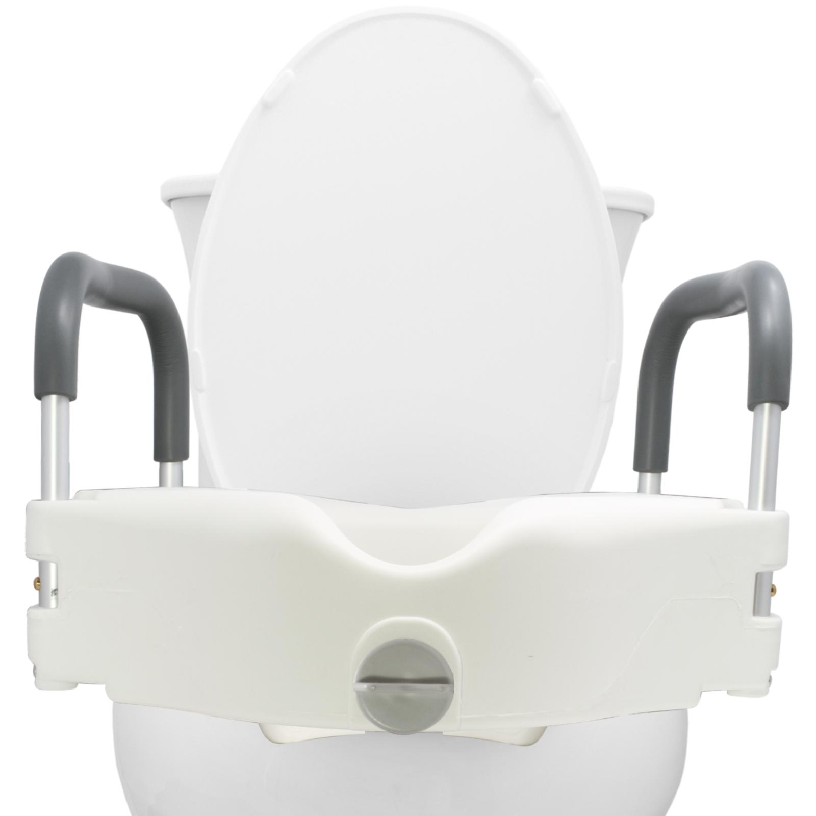 medical portable elevated raised toilet seat wth