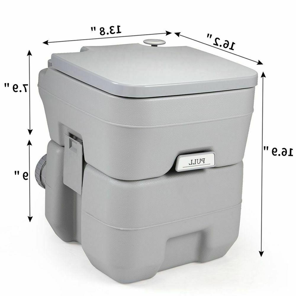 Portable 5 Gallon Travel Toilet Flush