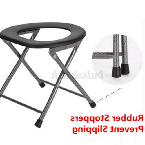 Portable Folding Seat Commode for Pregnant, Outdoor Camping RV