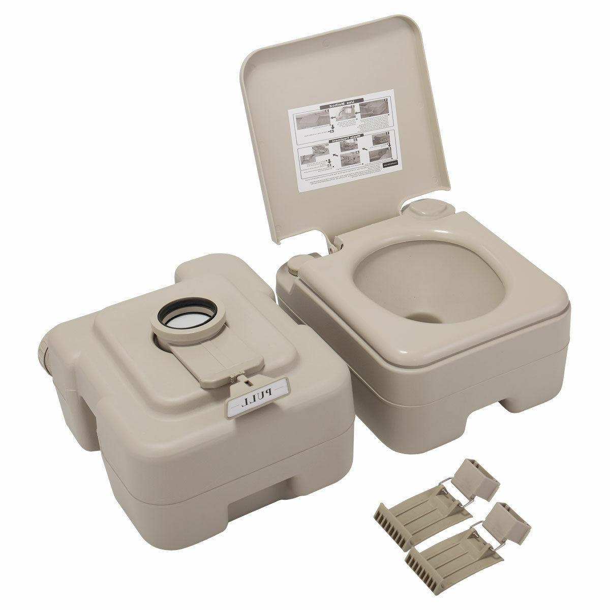 Portable Toilet 20L Gallon Commode Potty Outdoor/Indoor