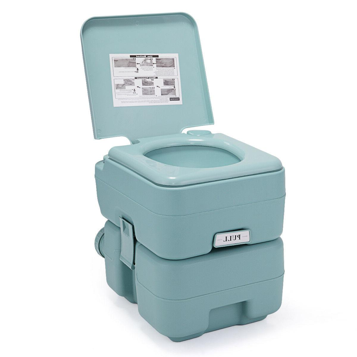Portable Toilet 5 20L Outdoor Camping Green
