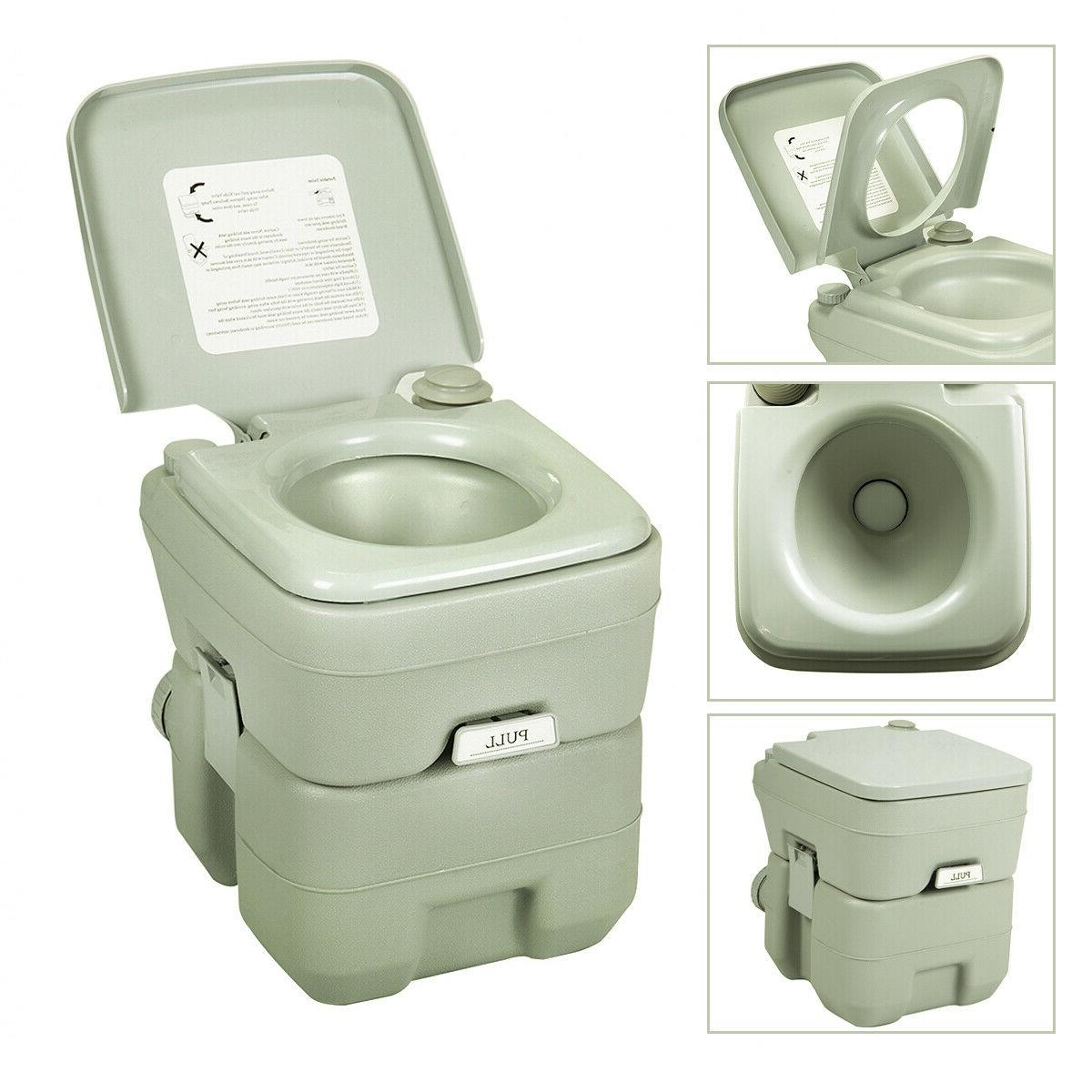 portable toilet flush camping indoor