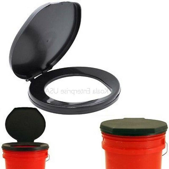 portable toilet seat cover camping outdoor bucket