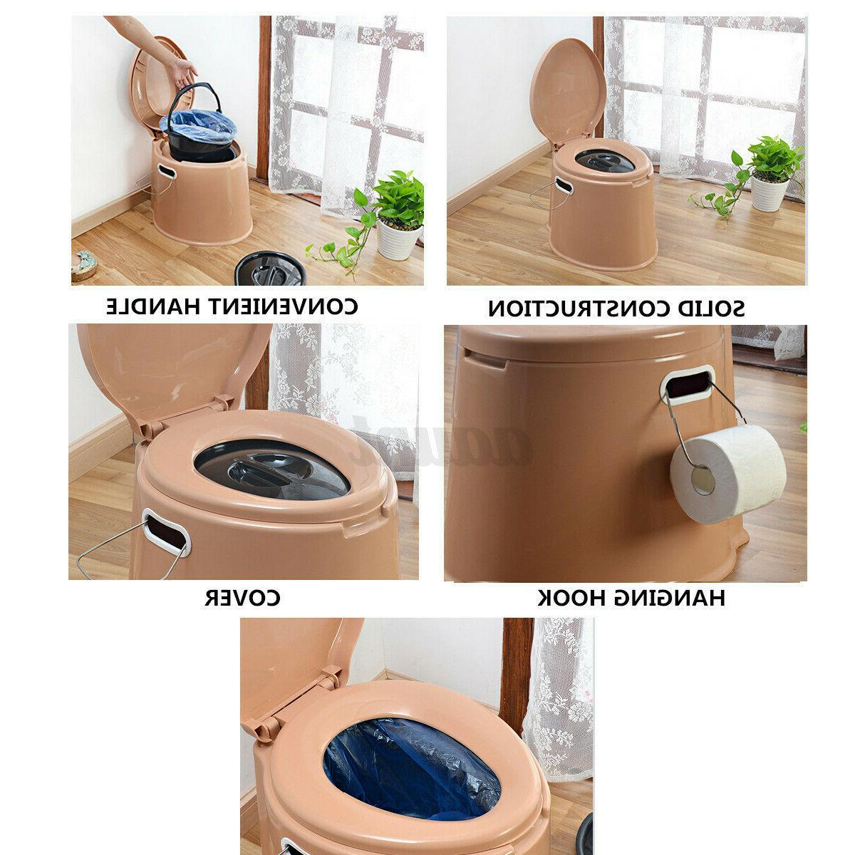 Portable Seat Camping Hiking Potty Commode Stock