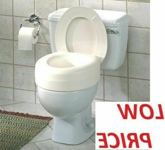 Raised Toilet Seat Elevated Elongated Portable White Safety