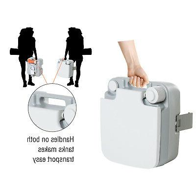 Outdoor Toilet Flushable Tank Indicator to Use