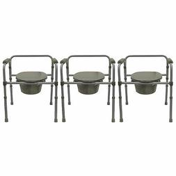 Bios Living Adjustable Commode Portable Toilet with Padded A