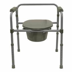 Bios Living Adjustable Deluxe Commode Portable Toilet with P