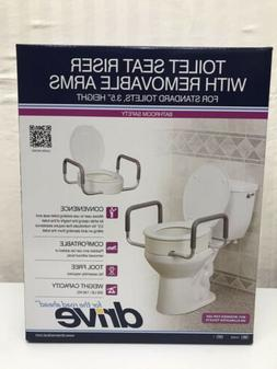 New Raised Toilet Seat with Removable Arms for Standard Toil