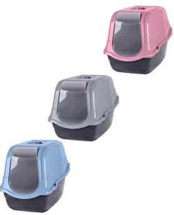 Pet Toilet Cat Litter Tray Carry Handle Easy Clean Portable
