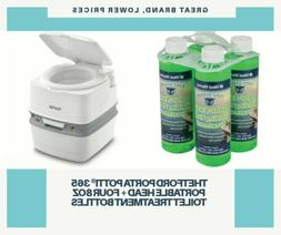 THETFORD Porta Potti® 365 Portable Head + Four 8oz Toilet T