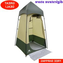 Portable Camping Shower Tent Lighted Changing Room Privacy T