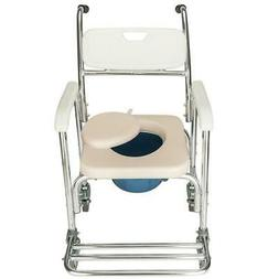 Portable Medical Toilet Commode Wheelchair Bedside Toilet Tr