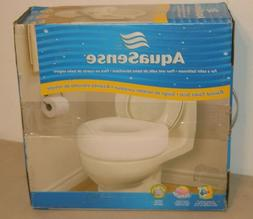 AquaSense Portable Raised Toilet Seat, White, 4 Inches *Open