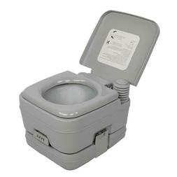 Portable Toilet 2.8 Gallon 10L Flush porta-potty Outdoor Ind