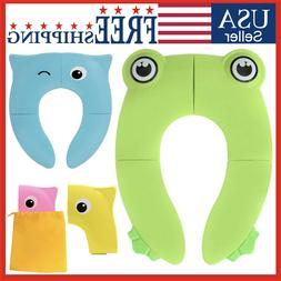 Potty Seat Folding Training Travel Portable Toilet Cover Pad