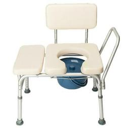 White Bedside Commode Chair Portable Potty Toilet Paded Seat